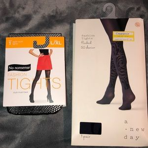 Bundle of two pairs Size L/XL black tights